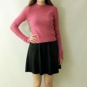 Vintage 90's Pink CROPPED Fitted Cozy Knit Sweater